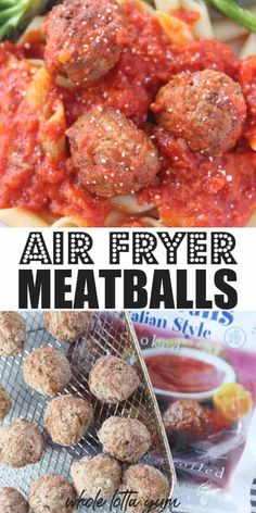 Making frozen meatballs in air fryer is quick, easy, and gets dinner on the table FAST. In less than 15 minutes you'll have meatballs for pasta or subs. Frozen Turkey Meatballs, Veggie Meatballs, Grape Jelly Meatballs, Air Fryer Dinner Recipes, Air Fryer Recipes Easy, Vegetarian Barbecue, Vegetarian Cooking, Barbecue Recipes, Frozen Meatball Recipes