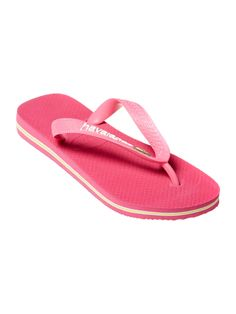 Havaianas Girls Brazil Flag Flip Flops, Pink