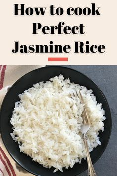 Easiest recipe to cook perfect jasmine rice every time using the Instant Pot! Learn 2 ways to cook depending on the quantity of rice you want to cook.  #ministryofcurry #cooking101 #instantpot