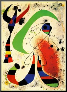 Night Art Print by Miro, Joan Spanish Painters, Spanish Artists, Picasso, Joan Miro Pinturas, Miro Artist, Joan Miro Paintings, Oil Paintings, Art Moderne, Matisse