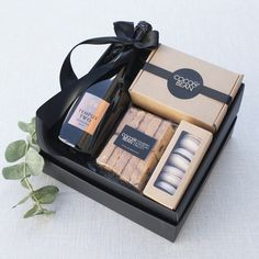 Corporate Gifts for Clients. The Gratitude Hamper by Coco & Bean are the creators and bakers of Australia's finest chocolate brownies artisan gift hampers and sweet treats for special events and corporate gifts. Paper Gift Box, Paper Gifts, Hamper Boxes, Hamper Ideas, Chocolate Gift Boxes, Chocolate Hampers, Wine Gift Baskets, Basket Gift, Gifts Delivered