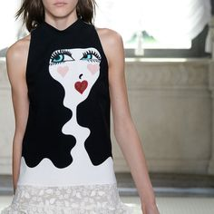The Blue EYEs Trend for SS 2016. Blue EYE Print at Giamba Spring Summer 2016.