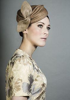 Rachel Trevor-Morgan Millinery - Putty Italian straw beret pillbox with Grazia straw twist. #passion4hats