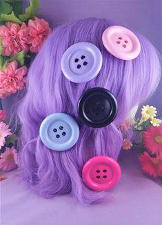 So Kawaii ! J-fashion Decora Lolita Fairy Kei Kawaii Apple Hair Clips in Plaid and Polka Dots