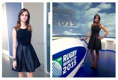 Federica Lodi wearing a Mantù dress on Sky Sport  #style #trend #fashion #SkySport