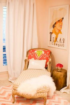 Little Green Notebook: Room Tour: Perfectly Pink Bedroom - Valspar Iced Apricot