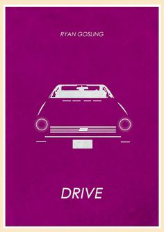 Drive (2011) - Minimal Movie Poster by Jon Glanville ~ #jonglanville #minimalmovieposters #alternativemovieposters