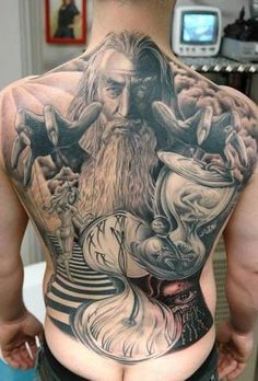 Wizard Back Tattoo :