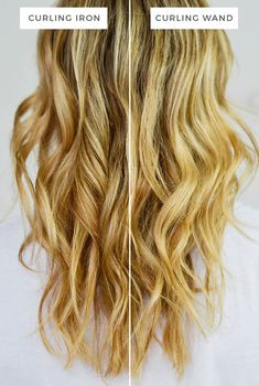 There is a major difference in the curls you get with a curling iron vs a curling wand. The curling iron gives a ringlet effect whereas a wand makes perfect waves every time.