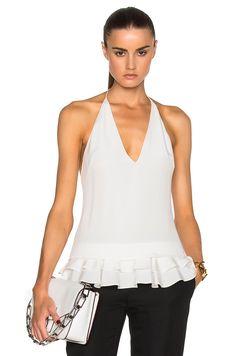 Image 2 of Cushnie et Ochs Silk Crepe Top in Soft White
