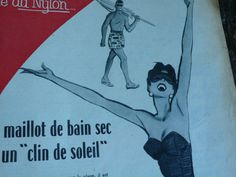 A superb Paris Match from 1955, some excellent mid century adverts and articles. What a brilliant selection of pictures and vintage information; full of celebrity gossip of the day, advertisements, inspiration for scrapbookers,graphic designers, card makers, artists, fashion gurus...I love it!  Its also really good for helping with French learning, my mother tells me she used to buy this as a teenager to help with her French, an interesting way to learn new vocabulary.  This issue is a great…