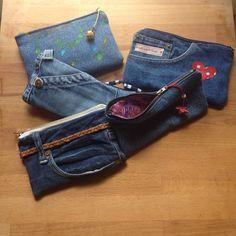 Astucci in jeans riciclati by ArteAlterna-Tarquinia