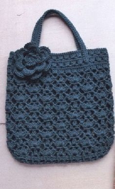 Crochet Handbag - Free Crochet Diagram - (woman7)