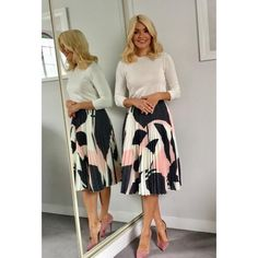 """4,993 Likes, 35 Comments - Holly Willoughby (@hollywilloughby) on Instagram: """"Today's look on @thismorning skirt by @oliverbonas jumper by @lkbennettlondon shoes by @officeshoes…"""""""