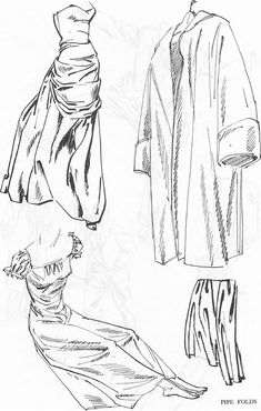 Drawing Clothing Folds & Drapery Wrinkles with Folding and Shadows ...