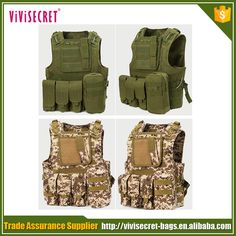 Tactical Paintball Combat Soft Gear Molle Airsoft Military Vest