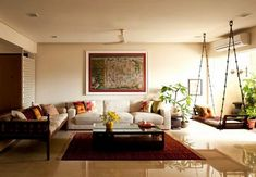 Lately, ethnic home decor has turned out to be progressively mainstream when settling on a subject for decorating. Among the first of the decisions in social decor, is Indian home decor. Indian home decor has turned out to be a… Continue Reading → Ethnic Home Decor, Indian Home Decor, Living Room Interior, Living Room Decor, Lobby Interior, Indian Interior Design, Indian Interiors, Indian Living Rooms, Decoration Bedroom