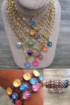 Catherine Popesco La Vie Parisienne Jewelry with Swarovski Crystals in EVERY color! Available at Eve Marie's in Hattiesburg, Mississippi! The absolute best selection and a perfect addition to any wardrobe! And a great gift idea :) 601-450-0559