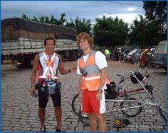 Audax Campinas 200km-2004.Cézar e Derek John Mc Geehan.Derek estreou com a Speedy Light , primeiro quadro em alumínio da Zöhrer.