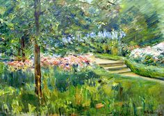 """bofransson: Max Liebermann """"Garden in Wannsee,"""" 1923"""