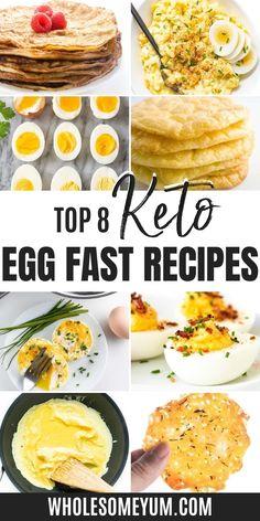 Egg Diet Plan, Ketogenic Diet Meal Plan, Keto Meal Plan, Diet Meal Plans, Eggfast Recipes, Healthy Egg Recipes, Easy Egg Recipes, Egg Recipes For Breakfast