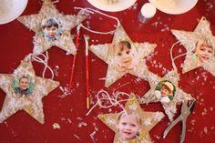 Classroom Christmas Party: Handmade photo ornaments