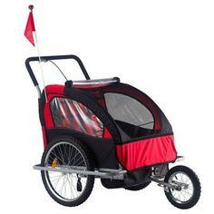 Allen Sports Premier 2-Child Aluminum Bike Trailer/Racing Stroller ...