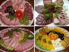 Delicious and simple recipes with photos Bento Recipes, Cooking Recipes, Entree Festive, Fruits Decoration, Tortilla Pinwheels, No Cook Appetizers, Food Carving, Food Garnishes, Food Platters