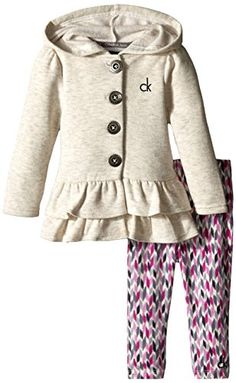 Calvin Klein Baby Girls' Cream Jacket with Animal Print Pants, Cream, 24 Months Calvin Klein www. Baby Girl Pants, Baby Girl Dresses, Baby Girls, Animal Print Pants, Cream Jacket, Kids Fashion, Fashion Outfits, Toddler Girl Style, Printed Pants
