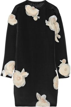 Lanvin Beige Floralappliquéd Faille Tunic Dress. I'm swooning...