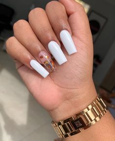 2020 comes,Coffin nail has always been the cool nail shape, which is popular with girls. Don't want to miss the 52 newest trendy coffin nails designs. Short Square Acrylic Nails, Simple Acrylic Nails, Acrylic Nail Tips, Summer Acrylic Nails, Long Square Nails, Acrylic Gel, Summer Nails, Polygel Nails, Pointy Nails