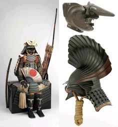Samurai: Armour of The Warrior. Exhibition that took place in early 2012 at Musée du Quai Branly, Samurai Weapons, Samurai Armor, Japanese Warrior, Musashi, Medieval Armor, Antique Books, Rocks And Minerals, Character Design, Cold Steel