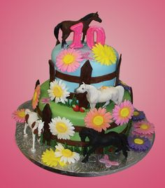 horse cakes | 10th Birthday, Horse Cake by Johnson's Custom Cakes & More in ...