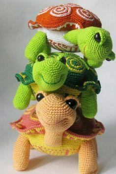 Amigurumi Örgü Oyuncak Modelleri – Amigurumi Motifli Kaplumbağa Tarifi ( Anlatımlı )