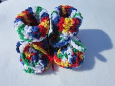 Crochet Baby Booties Size 6 to 9 months by crochetedbycharlene, $12.00