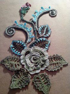 Елена Ситникова(Соловьева). Irish Crochet Patterns, Crochet Motifs, Freeform Crochet, Crochet Art, Lace Patterns, Craft Patterns, Crochet Designs, Crochet Stitches, Crochet Leaves