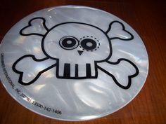 Glow in the dark skull n bones sticker