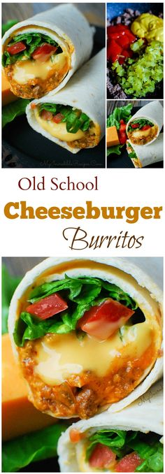Old School Cheeseburger Burritos!