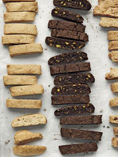 Easy Biscotti Recipes for Christmas by Country Living brings you the best in Italian baking, try to substitute the 'fat' content with olive oil and make them lighter!
