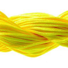 Lot 5m cordon nylon spécial shamballa jaune 1mm