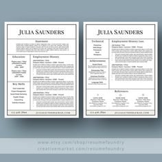 How To Do A Reference Page For A Resume Awesome Professional Resume Template For Word 13 Page Resume  Cover .
