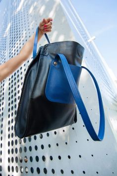 MARŮŮ - maruuleather handmade design leather accessories and bags Black Tote Bag, Handmade Design, Leather Accessories, Leather Bag, Blue, Women, Fashion, Moda, Fashion Styles
