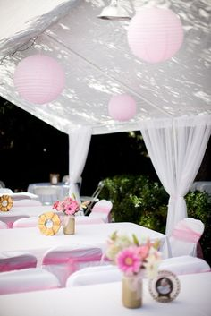 Outdoor baptism party ideas
