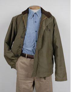 N-1 Deck Jacket / USN Chambray Shirt / Scye 41 Khaki trousers