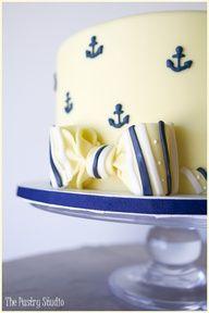 Wedding at Sea Anchor Cake
