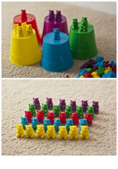 Chaos & Kiddos: Mommy's Survival Guide: Stuff I Love - Sorting Bears by Eureka - 10 Sorting Games for Your Math-Loving Child Eyfs Activities, Toddler Activities, Learning Activities, Preschool Math, Teaching Math, Parent Resources, Homeschooling Resources, Counting Bears, Sorting Games