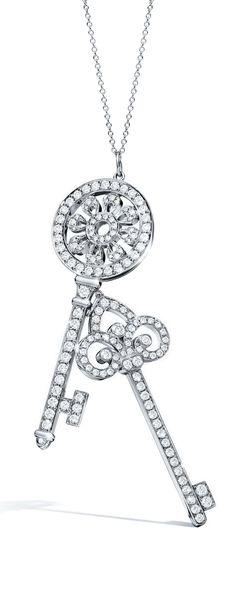 0274a58ca9f4 Brightly shining Tiffany diamonds will be treasured forever. Tiffany Keys  petal and fleur de lis
