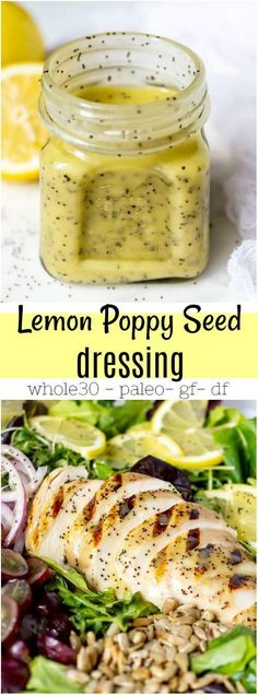 If you are looking for a punch of flavor in your salad, this Creamy Lemon Poppy Seed Dressing Recipe is just what you need! Grill your chicken, add some greens and this will make the perfect Lemon… Poppy Seed Chicken Salad, Grilled Chicken Salad, Chicken Salads, Marinades For Chicken, Whole30 Chicken Salad, Lemon Poppy Seed Dressing, Poppy Seed Dressing Healthy, Lemon Poppyseed Dressing Recipe, Poppyseed Salad Dressing