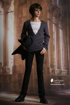 nYID/SID_Man V-neck knit (gray)
