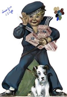 Sailor Jack and Bingo. Remember Cracker Jacks and the surprise inside.